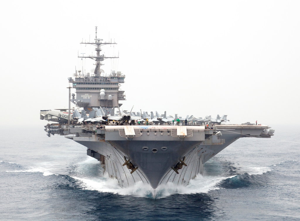 Iran's Guard monitors U.S. aircraft carrier with drone
