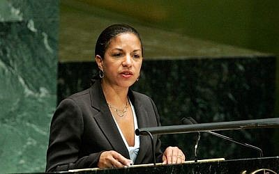 US ambassador to the UN Susan Rice (photo credit: Courtesy UN)