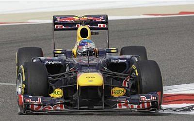 Red Bull driver Sebastian Vettel of Germany at the Formula One Bahrain International Circuit in Sakhir, Bahrain, Sunday, April 22, 2012. (photo credit: AP/Hassan Hammar)