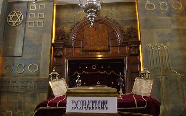 The Beth Shalom Synagogue in Athens (Gavin Rabinowitz/JTA)