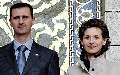 Bashar and Asma Assad (photo credit: CC BY-SA Ricardo Stuckert/ABr, Wikipedia)
