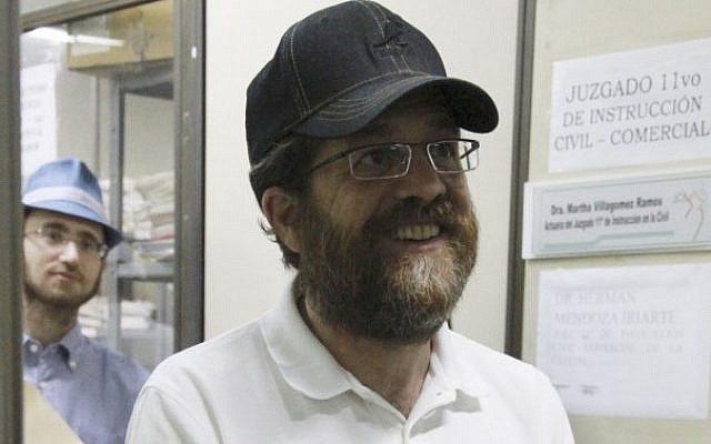 Jacob Ostreicher, an Orthodox investor from Brooklyn, has been freed from prison in Bolivia but will remain under house arrest after paying $14,000 as bail. (AP/File)
