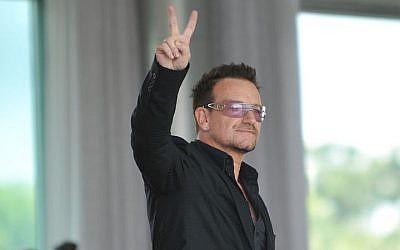 File: U2 lead singer Bono in Brazil, 2011. (CC BY, Agência Brasil)