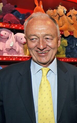London's mayoral candidate Ken Livingstone during a visit to Hamley's toy shop. (photo credit: AP Photo/Kirsty Wigglesworth)
