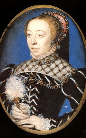 Catherine de medici (photo credit: François Clouet, Wikimedia Commons)