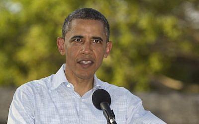 US President Barack Obama. (photo credit:AP/Carolyn Kaster)