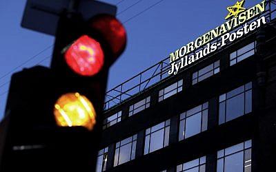 The Jyllands-Posten Copenhagen office (photo credit: AP Photo/Polfoto, Niels Hougaard)