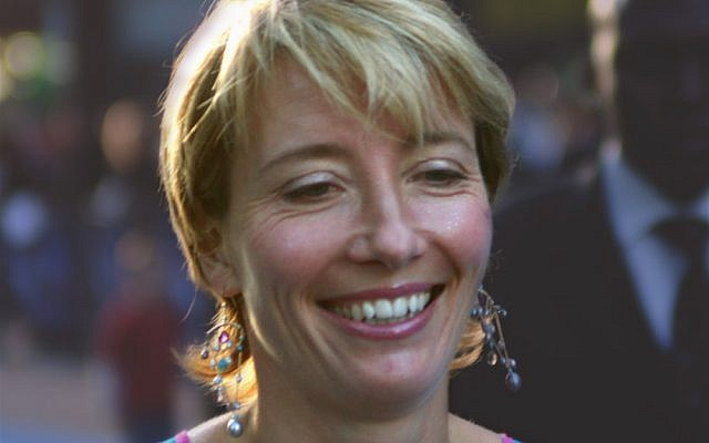 Emma Thompson. China's national theater is ok, but Habimah is not kosher. (photo credit: CC Caroline Bonarde Ucci, Wikipedia)