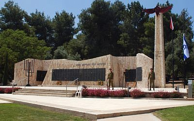 The paratroopers memorial at Tel Nof (photo credit: Tsahi Ben-Ami/Flash 90)