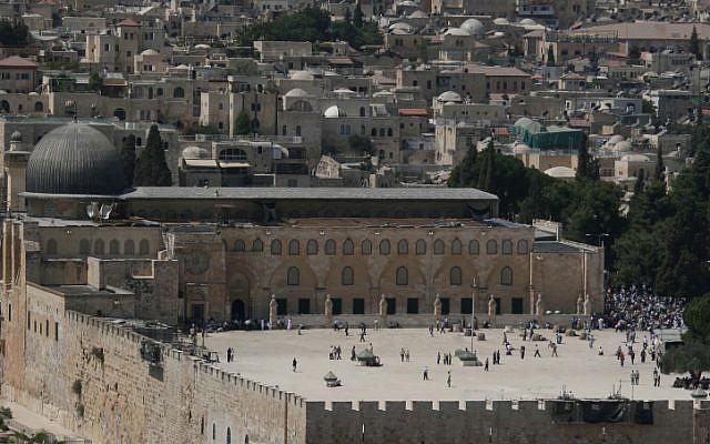 Al-Aqsa Mosque on Jerusalem's Temple Mount (photo credit: Anna Kaplan/Flash90)