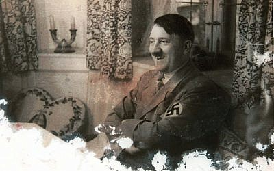 Reproduction of Adolf Hitler from the archive of Israeli Nazi hunter Tuviah Friedman (photo credit: Roni Schutzer/Flash90)