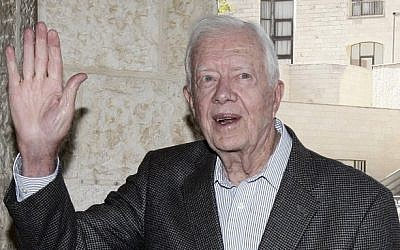 Former US president Jimmy Carter (photo credit: Abir Sultan/Flash90)