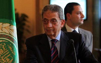 Amr Moussa (photo credit: Wissam Nassar/Flash90)