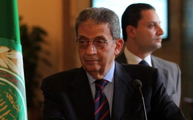 Amr Moussa. No Jewish relatives (photo credit: Wissam Nassar/Flash 90)