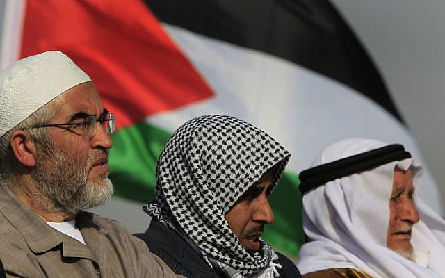 Sheik Raed Salah, left, the leader of the Islamic Movement in Israel (photo credit: Tsafrir Abayov/Flash90)
