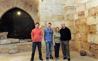 The Netanyahu family touring Acre last Passover, Yair is second from left (photo credit: Avi Ohayon/Flash90)