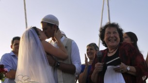 A Reform wedding in Tel Aviv, not recognized by the rabbinate (photo credit: Serge Attal)