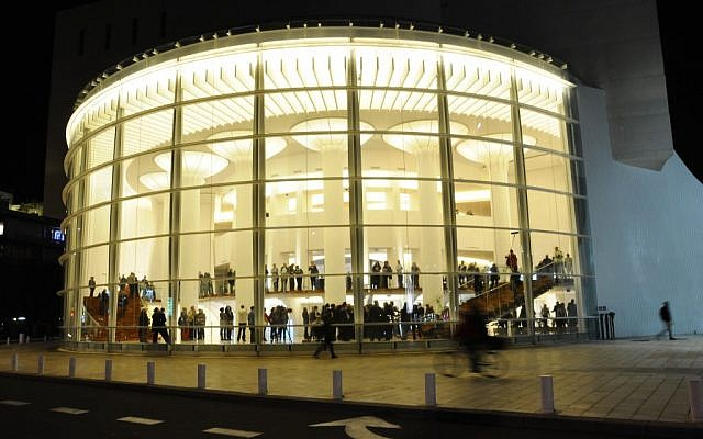 The revamped Habimah in Tel Aviv, pictured in November 2011. (photo credit: Yosef Zeliger/Flash90