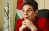Palestinian politician Hanan Ashrawi (Miriam Alster/Flash90)