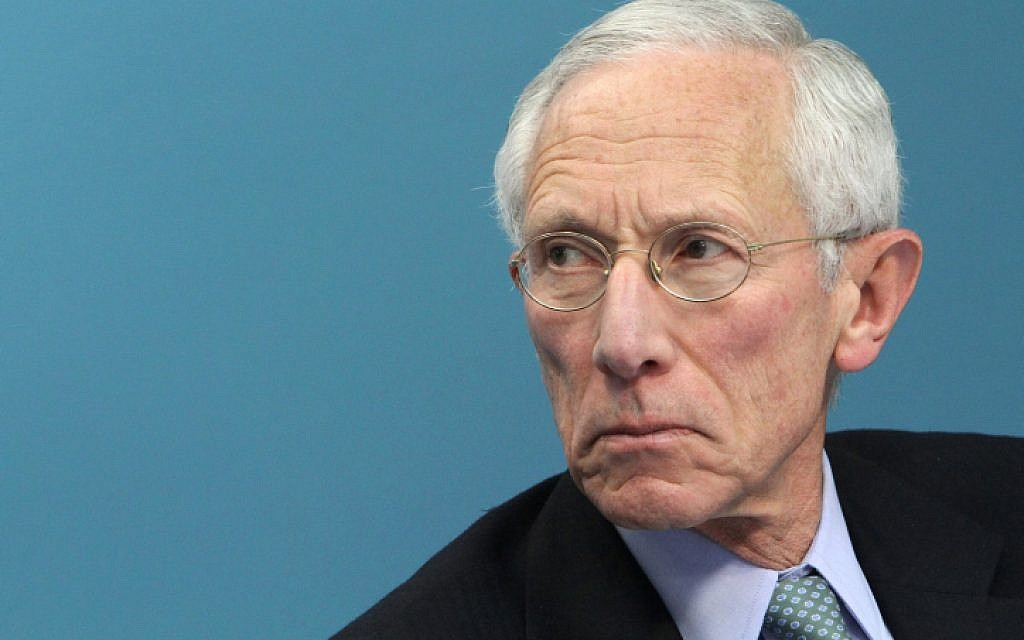 Outgoing vice chair of the US Federal Reserve, Stanley Fischer. (Miriam Alster/Flash90)