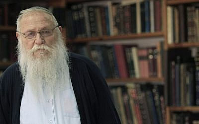 Rabbi Haim Meir Druckman, recipient of the Life Achievement award for 2012. (photo credit: Tsafrir Abayov/Flash90)