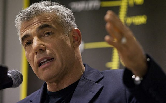 Yair Lapid, founder of the Yesh Atid party (photo credit: Yonatan Sindel/Flash90)