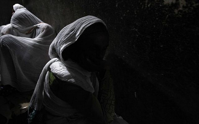 Ethiopian women in Jerusalem 's Old City in April (photo credit: Kobi Gideon/Flash90)