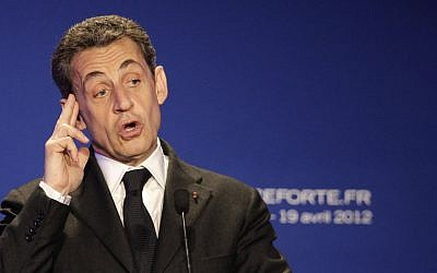 Former French president Nicolas Sarkozy (photo credit: Michel Euler/AP)