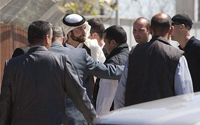 Jordan's Prince Hashem visits Al-Aqsa April 4 (photo credit: Yonatan Sindel/FLASH90)