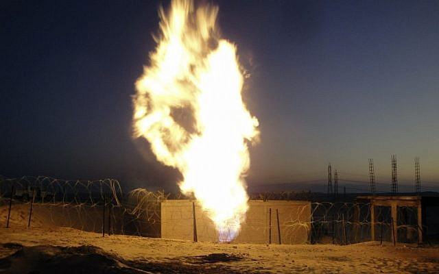 Natural gas flames in Egypt (illustrative photo: AP)
