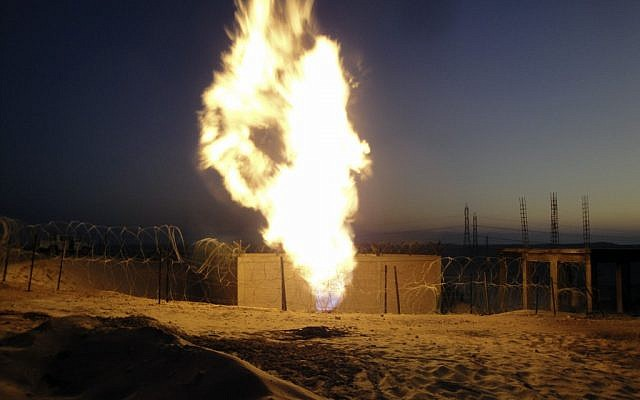 The gas pipeline from Egypt to Israel has been sabotaged repeatedly by militant groups (photo credit: AP)