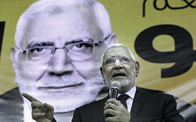 Moussa's leading opponent, Islamist candidate Abd Al-Munim Abu-Fattouh (photo credit: AP Photo/Amr Nabil)
