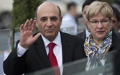 Kadima Chairman Shaul Mofaz and his wife Orit. (photo credit: AP/Ariel Schalit, file)