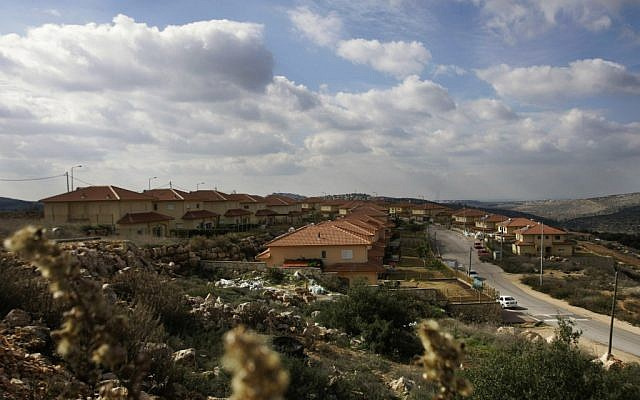A view of the Bruchin settlement. (photo credit: Ariel Schalit, File/AP)