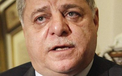 Awn al-Khasawneh speaks to reporters after his appointment as Jordan's new prime minister in Amman. (photo credit: AP)