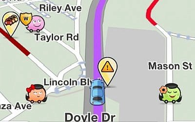 Waze navigation screen (photo credit: Courtesy)