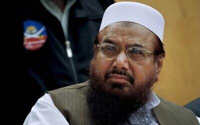 Mumbai massacre mastermind Hafiz Saeed. (AP/Anjum Naveed)