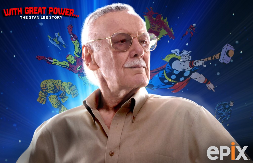 Poster for the Stan Lee documentary on EPIX. (photo credit: Courtesy)