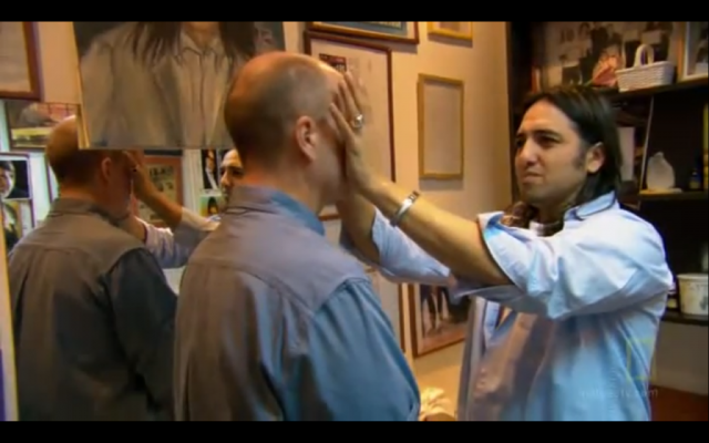 Image capture of Oren Zarif (right) from a National Geographic video on YouTube.