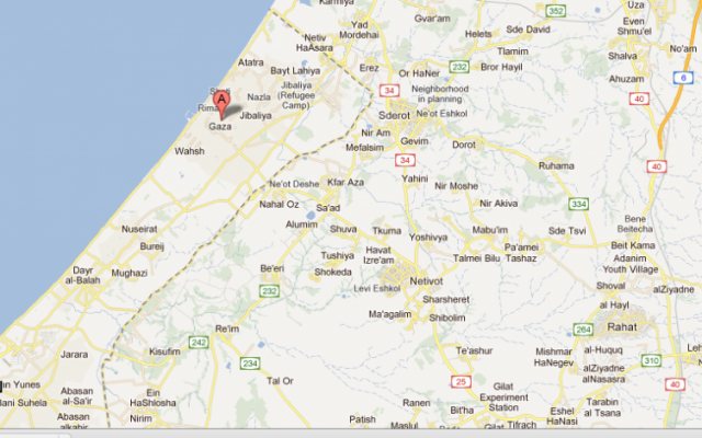 Three men, one of whom was charged with spying for Israel and the other two for murder, were hanged to death in Gaza City early Saturday morning (photo credit: google maps)
