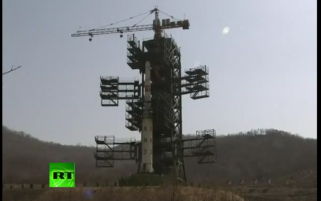 North Korea reveals Unha-3 rocket ready for launch (photo credit: screen capture, YouTube)