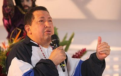 Venezuelan president Hugo Chavez delivers a speech in 2012 (Francisco Batista/Miraflores Press Office/AP)