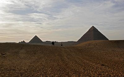 The Giza pyramids near Cairo. (Melanie Fidler/Flash90)