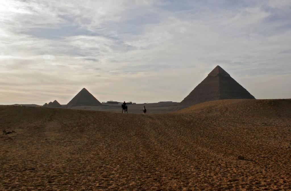 The Giza pyramids near Cairo. (photo credit: Melanie Fidler/Flash90)