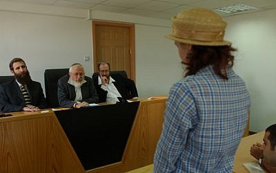 A woman in a conversion court. (photo credit: File/Flash90)