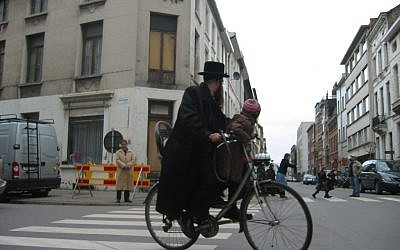 Illustrative: Antwerp's Jewish district (JTA/Ben Harris)