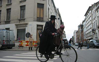 Illustrative: Antwerp's Jewish district (JTA/Ben Harris)