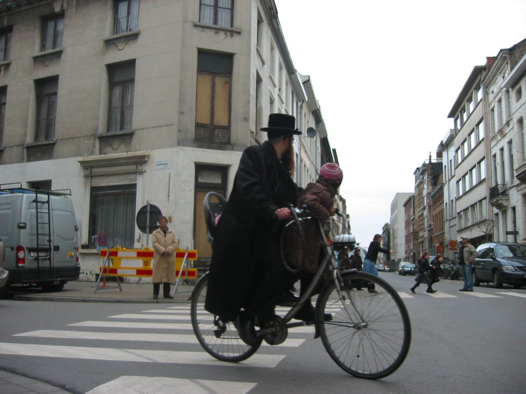 Antwerp's Jewish district has something of the feel of a modern shtetl. (Ben Harris/JTA)