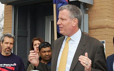 New York mayor Bill de Blasio (Courtesy BilldeBlasio.com)