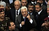 Palestinian President Mahmoud Abbas (photo credit: Issam Rimawi/Flash90)